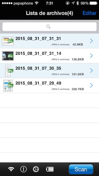 iX100 App para iOS