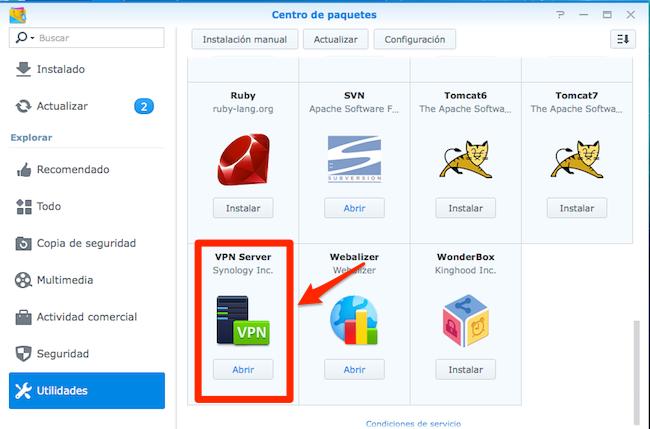 VPN Paquete