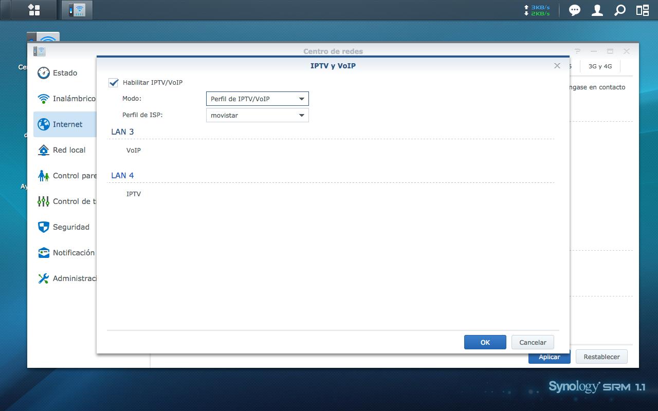 Configuración de ISP(IPTV y VoIP)
